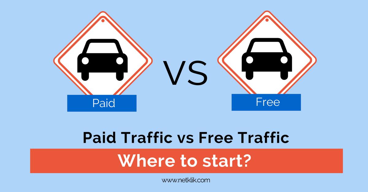 paid traffic vs free traffic