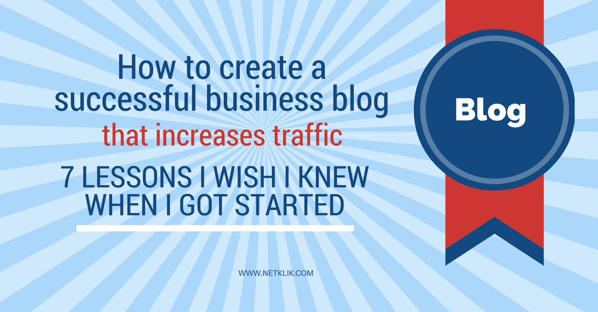 how to create a successful business blog