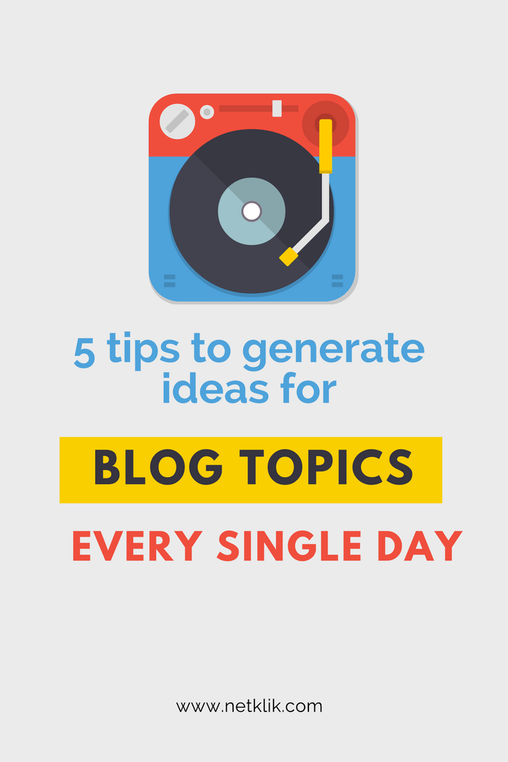 ideas for blog topics