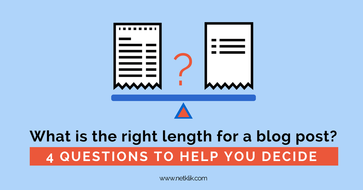 what is the right length for a blog post