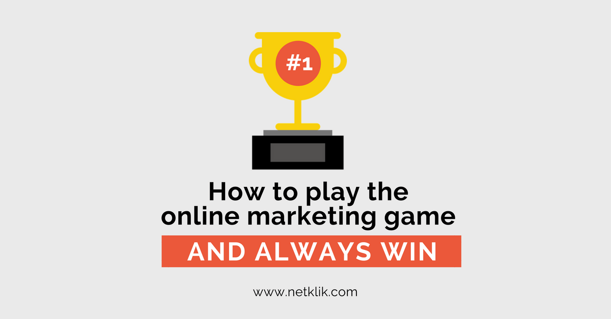 How to play the online marketing game